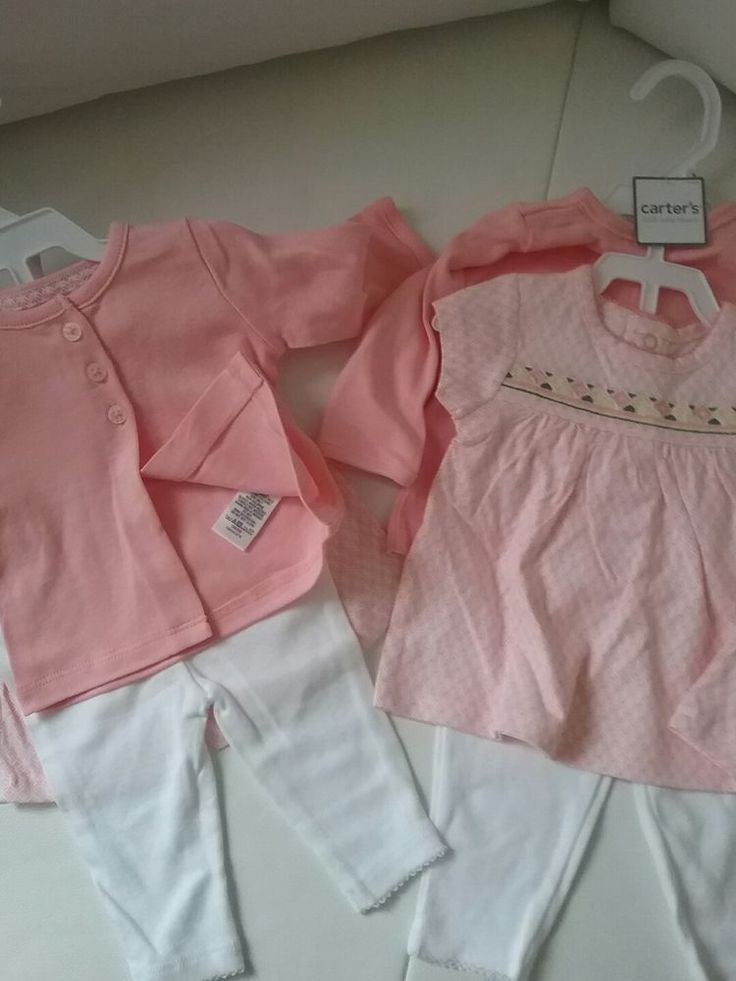 Carters baby girl a set of baby tights ,embroidery shirt and cardigan in beautif #Carters