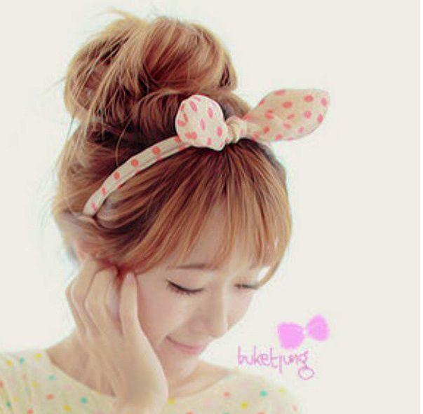 Ulzzang hair and hair bow
