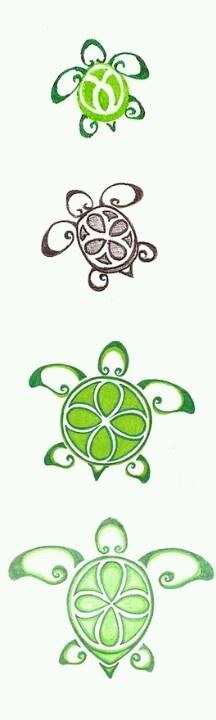 foot tattoo turtle