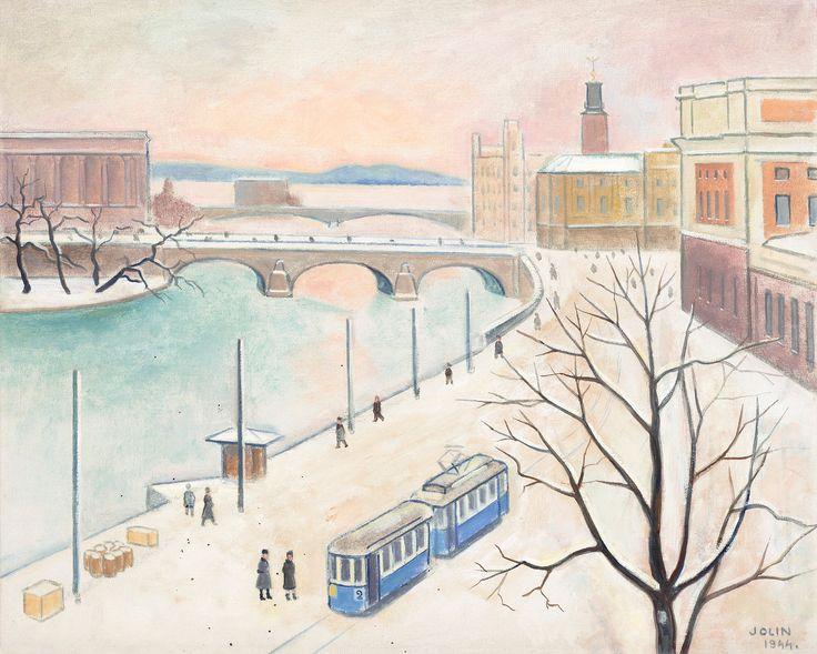 Einar Jolin, Strömgatan, Vintertid. 1944