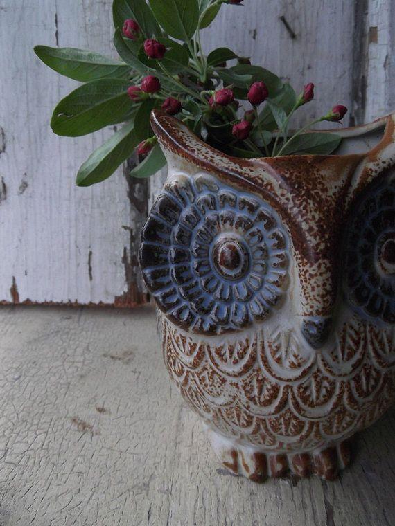 awesome owl planter $22