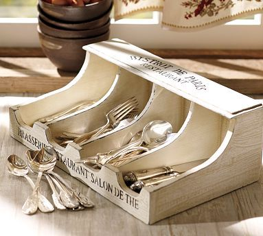 "That's My Letter: ""F"" is for Flatware DIY pottery barn idea"