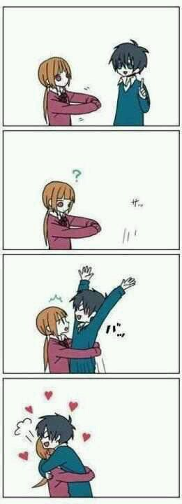 Tonari no Kaibutsu-kun-- I can totally see Haru doing that!!! XD This is from My Little Monster, the anime that has been slowly etching away at my soul for the past few days (in a good way, of course) :)
