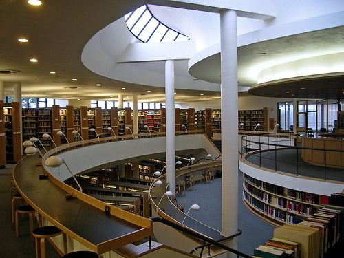 Mount Angel Abbey Library, Oregon, Alvar Aalto, 1970