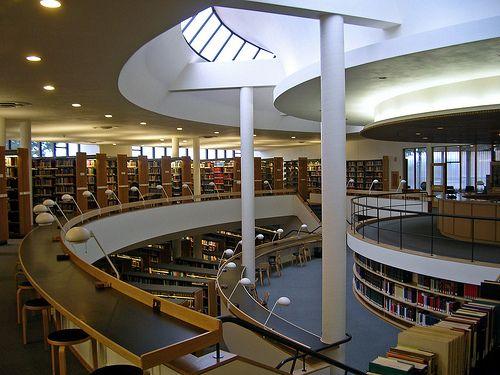 Mount Angel Abbey Library, Oregon, Alvar Aalto, 1970
