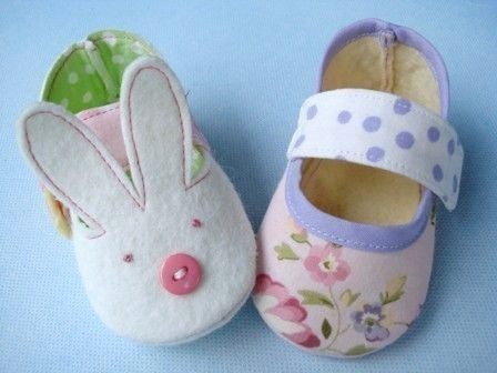 Bunny and Plain Baby Shoes - Booties Sewing Pattern Sewing Pattern - PDF ePattern. Etsy.