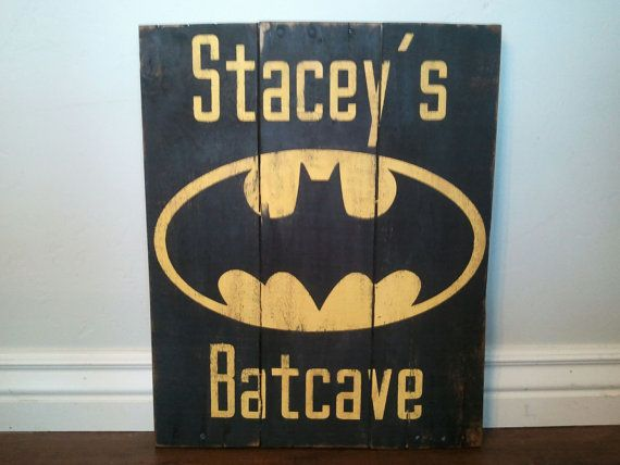 Vintage Batman Wood Sign Customized with your by TheCreativePallet, $50.00