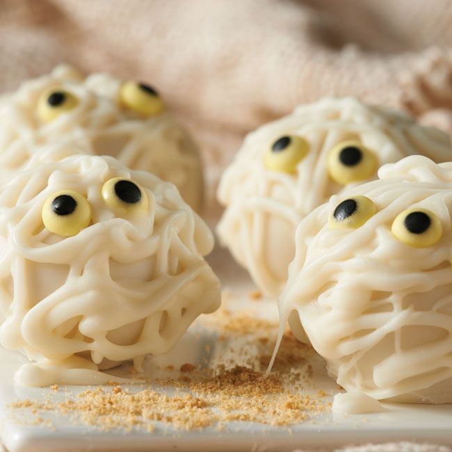 boo mummy cookie balls # recipe # halloween more oreo recipes cookies ...