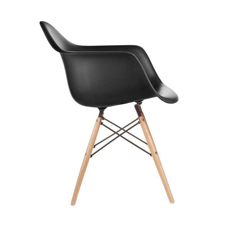 Silla Sillon Diseño Eames Plastico Base De Madera Prestigio - $ 1.850,00