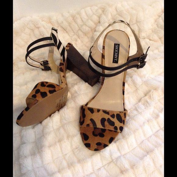 Shoemint Animal Print Heeled Sandals Multi animal print, zebra and cheetah, heeled sandals. Only worn once, Like new. Shoemint Shoes Sandals