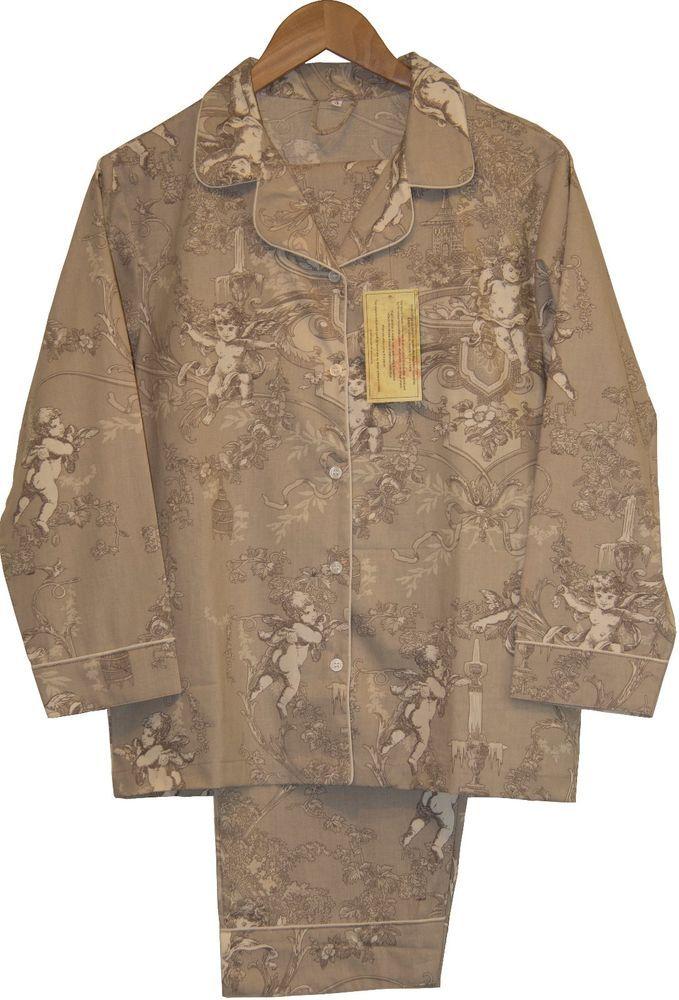 Cherubs Beige: 100% Cotton Women's Pajamas
