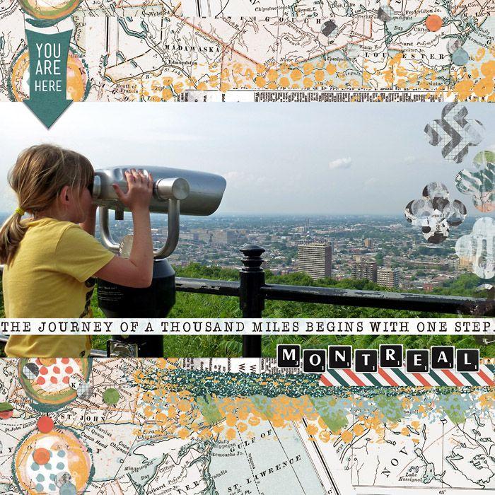 travel scrapbook layouts | digital scrapbook layout, travel, family, daughter, ... | Scrapbooking