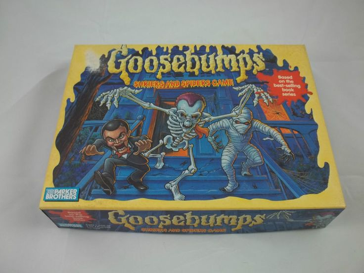 Parker Brothers GOOSEBUMPS Book Series SHRIEKS and SPIDERS Board Game COMPLETE