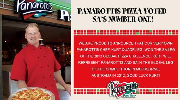 Weldone to all our patrons who have voted Panarottis the best pizza in South Africa. Thank you Thank you Thank You
