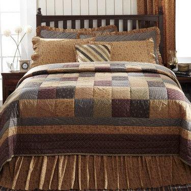 Lewiston Patchwork Block Luxury King QuiltLuxury king quilt measures 120x105