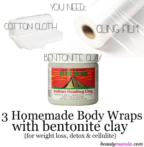 Want to lose a couple of inches fast? Learn how to make homemade body wraps with bentonite clay!