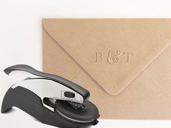 e4b8d5ebbd401 Ampersand Monogram Embosser Stamp, Personalized Embosser, Initials ...
