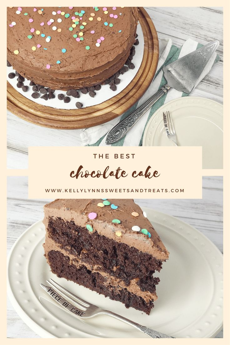 The BEST Chocolate Cake - A rich, moist chocolate cake, made from scratch with cocoa powder, buttermilk and coffee and baked in a 9X13-inch dish or two 9-inch round pans!