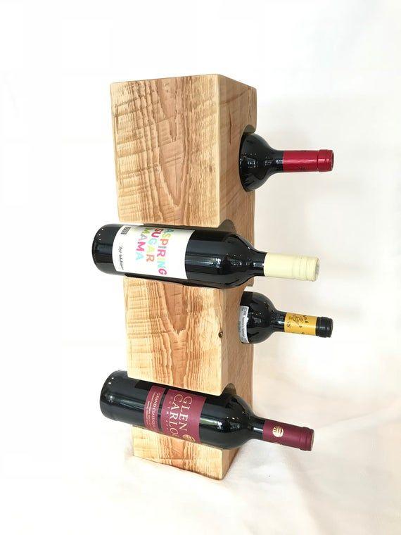 Wine Rack From Douglas Fir Timbers 4 Bottle Rack Natural Finish