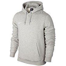 Nike Team Club Hoody - Sudadera para hombre, color gris / blanco (grey heather/grey heather/football white), talla XL
