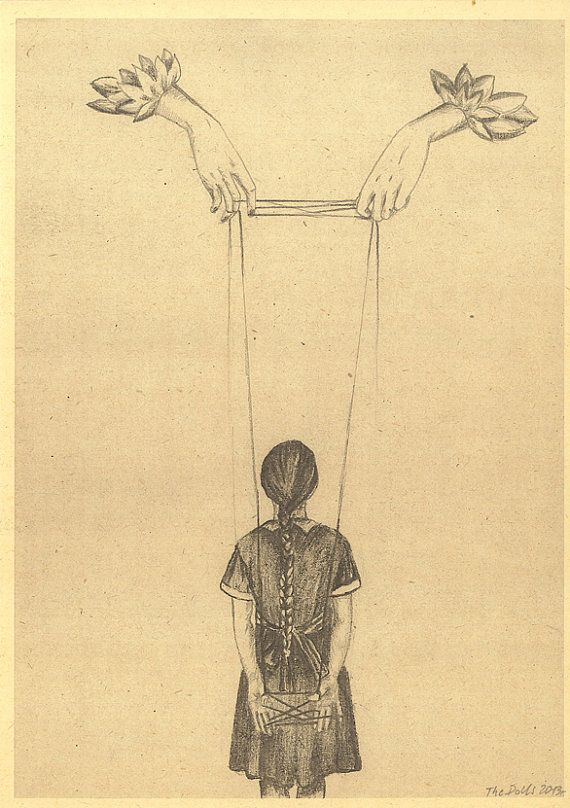 Cat's cradle Pencil Drawing A 4 Print by thedollsunique on Etsy, $17.00