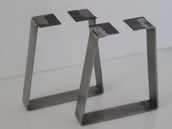 Like this but source local. 16 Bench legs Flat Steel Bench Legs SET2 by Balasagun on Etsy, 180 with clear coat.