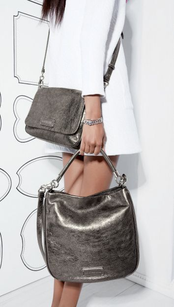 Currently coveting: Marc by Marc Jacobs metallic bags.