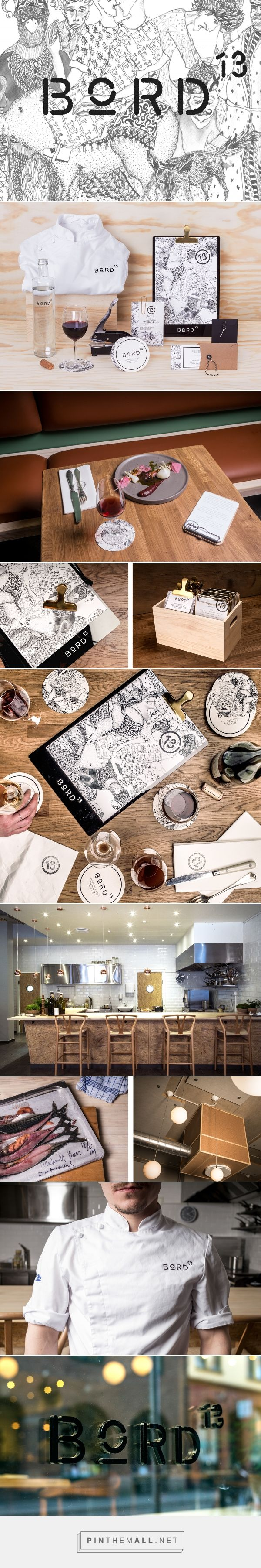 Bord 13 Restaurant Branding by Snask | Fivestar Branding Agency – Design and Branding Agency & Curated Inspiration Gallery