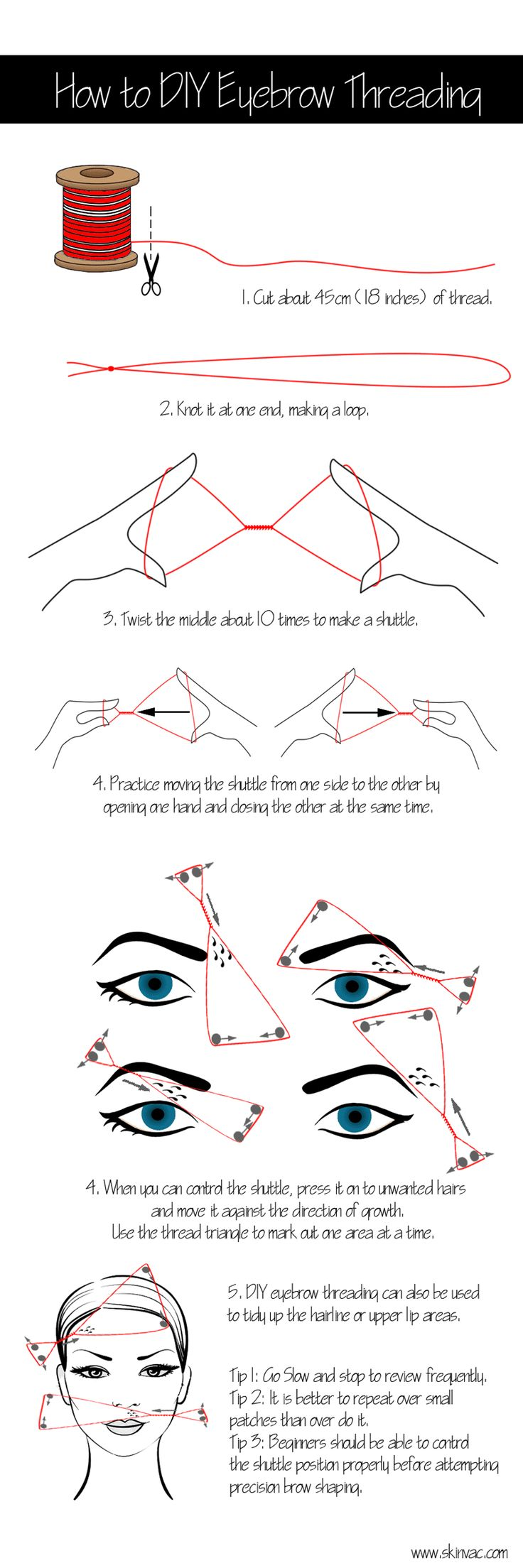台灣挽面!How to Thread your 台Eyebrows!