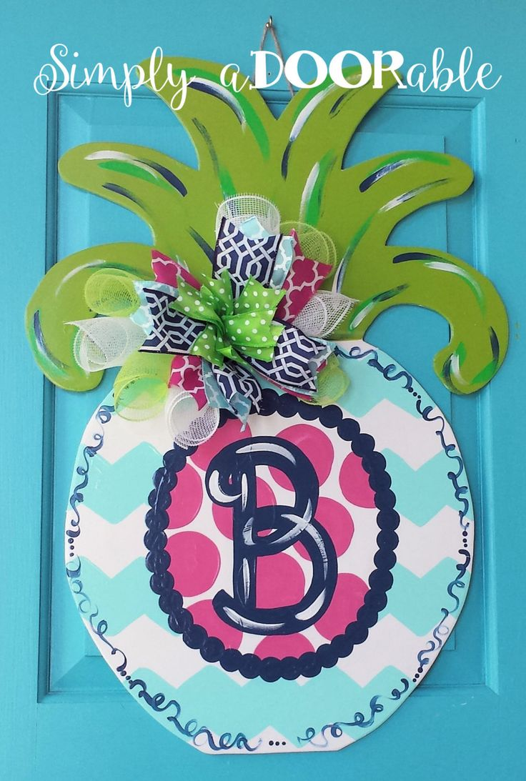 Decorative Door Hangers 17 Best Images About Pineapple Door Hangers On Pinterest Hanger