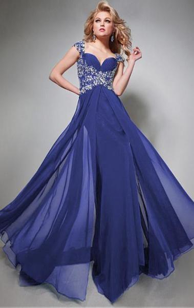 Best Floor-length Blue Evening Prom Dress LFNAL0469