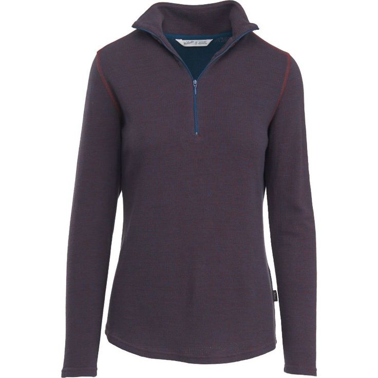 Woolrich Women's Canoe Run Half Zip Pullover, Size: Medium, Gray