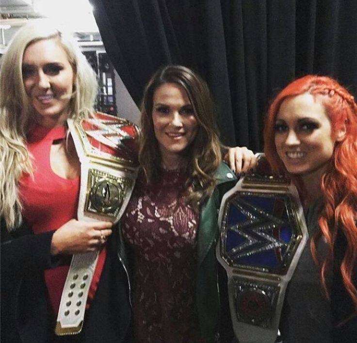 Becky, Charlotte, and Lita