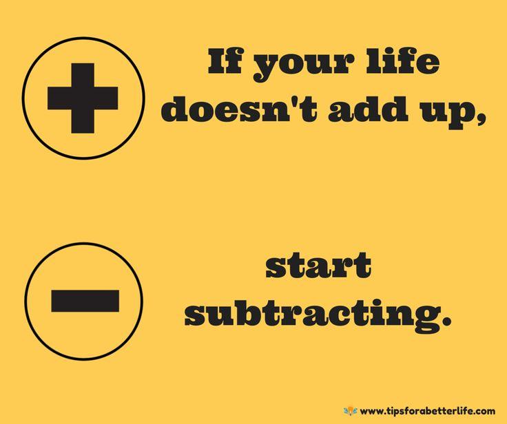 Resultado de imagen de the subtraction philosophy