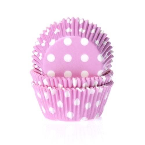 """50 caissettes """"rose à pois blancs"""" - Cupcakes & Muffins/Moules & Caissettes - Féerie Cake  3,99€"""