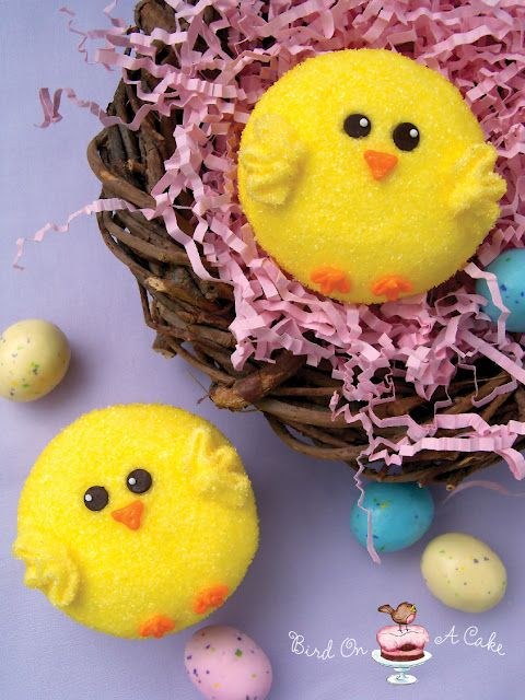 Adorable Easter Chick Cupcakes!