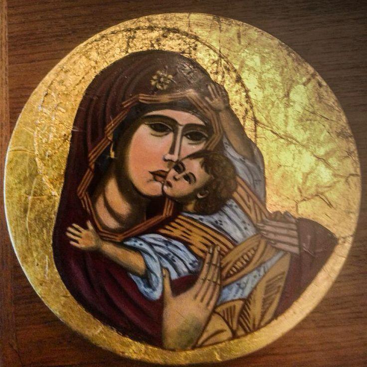 Vierge de la tendresse Artiste Lucette Matar
