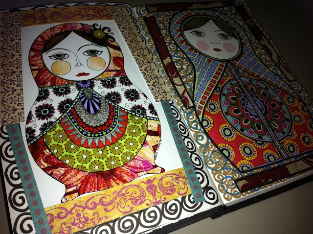Pen and ink by Rebecca Anthony: Russian dolls