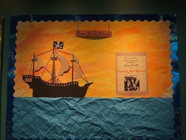 """Pirate Bulletin Board--Could be """"Sail through your first semester"""""""