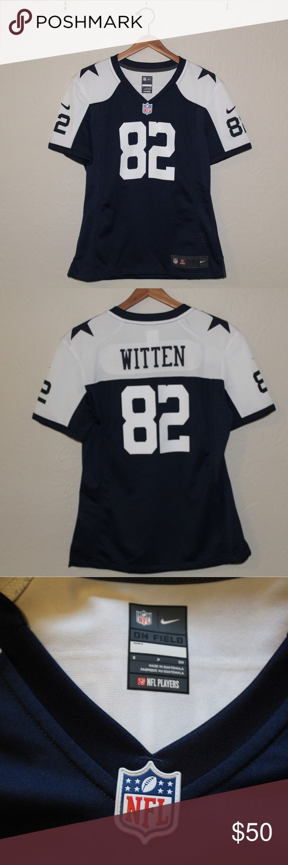 Dallas Cowboys Football Jersey In excellent condition! Worn once! This Nike Jason Witten Jersey is so sporty! Real NFL merchandise Nike Tops Tees - Short Sleeve