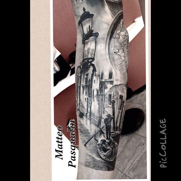 Venice Sleeve Close-Up (Tattoo Artist: Matteo Pasqualin)