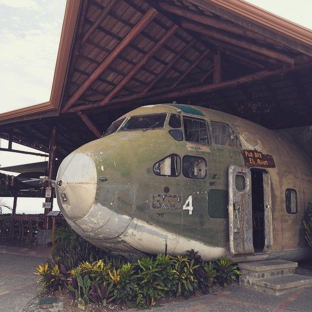 """If you happen to be in the Quepos neighborhood (that's in Costa Rica) stop by El Avion. Best looking bar"