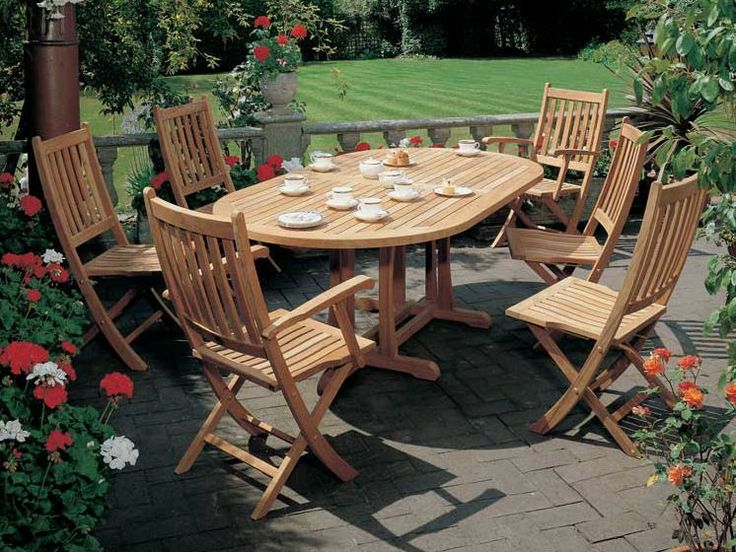 Barlow Tyrie Ascot 6 Seat Dining Set