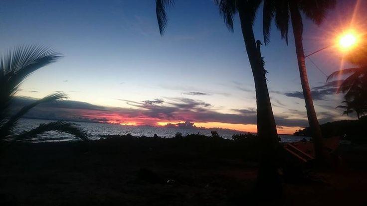 Desde Casa Mar De Risas viendo un hermoso atardecer