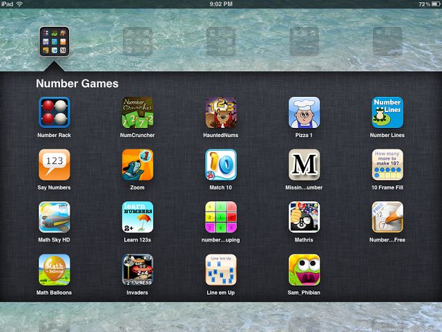 """""""Daily 5"""" Math Apps on the iPad: Number Games"""