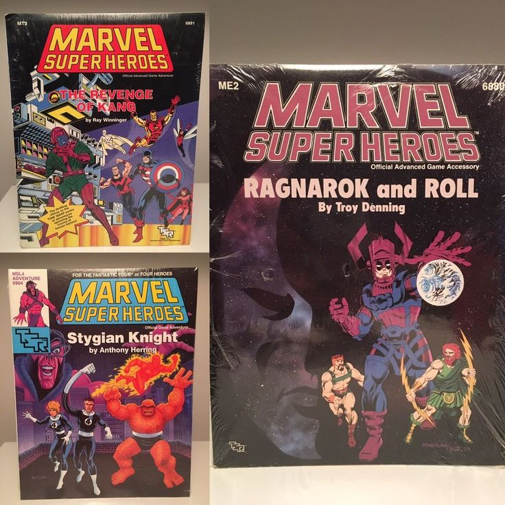 Lot of 3 MARVEL SUPER HEROES Game Adventure Modules (SEALED) 1989 TSR | eBay
