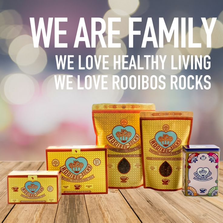 OUR FAMILY IS GROWING!  Meet our newest addition - our Rooibos Rocks tea tin. Crammed full of the flavor you love; each keepsake tin contains 4 fresh sealed packs of naturally organic, caffeine-free South African tea. With its unique and quirky design, our Rooibos Rocks tea tin is the perfect tea lover's gift that brings the heart of Africa to any kitchen.