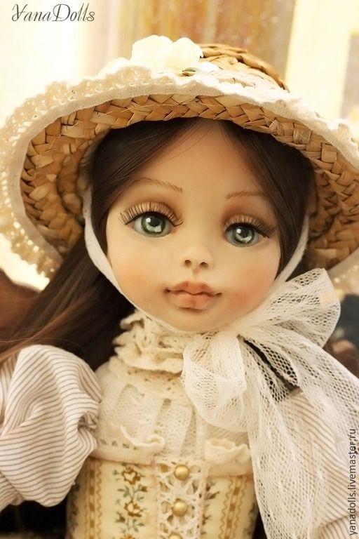 Купить Луиза - бежевый, кукла ручной работы, кукла, кукла в подарок, кукла интерьерная, болтушка