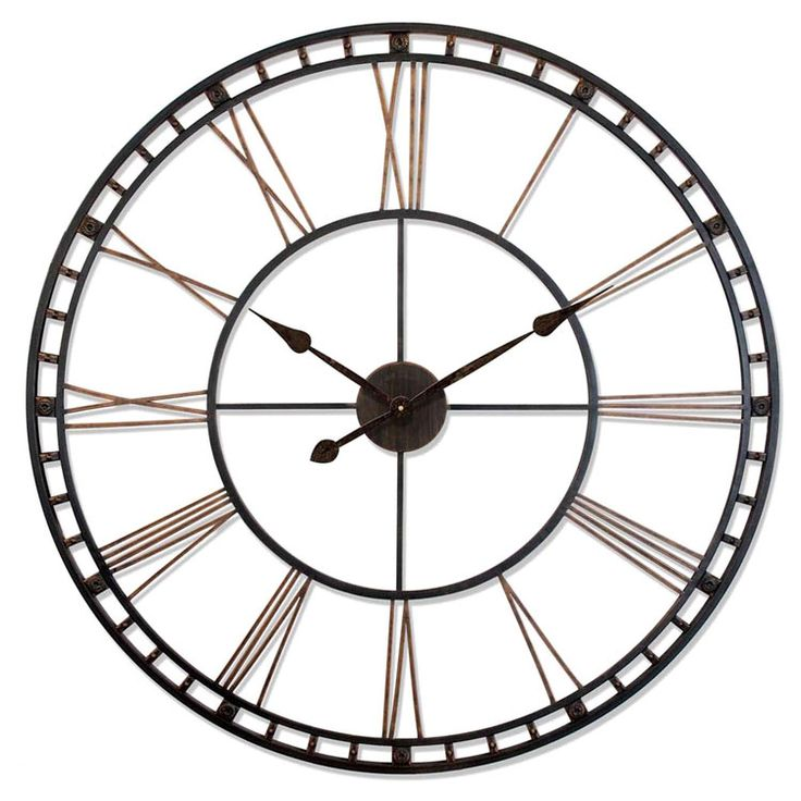 browse all oversized clocks at lamps plus decorative extra large wall clock designs designer looks ranging from rustic and retro to contemporary classic - Designer Large Wall Clocks