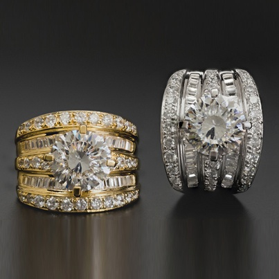 Bella Luce Dillenium Cut Round And Baguette Platineve Ring
